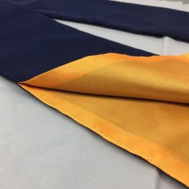 Sacca in stoffa con lacci colore esterno blu