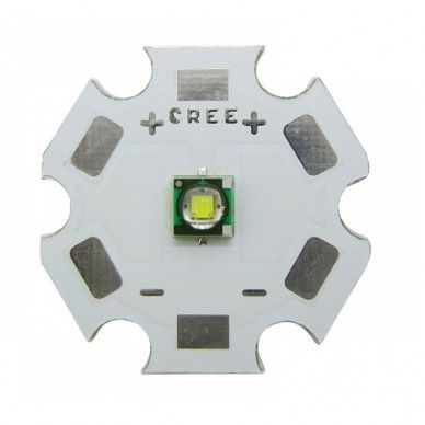 Led di Potenza Cree 3W XP-E2 saldato su star alluminio. VARI COLORI
