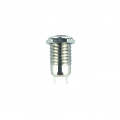 Switch on-off neutral metal antivandal no LED indicator. 12mm.