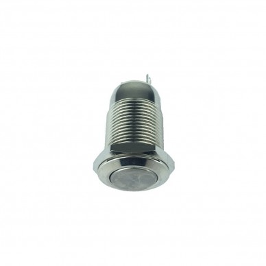 Switch on-off metal vandal-proof neutral without led light. 12mm.