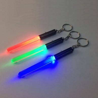 Portachiavi mini Spada Laser con luce e anello 13 cm.