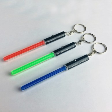 Mini Keychain Lightsaber with light and ring 13 cm.