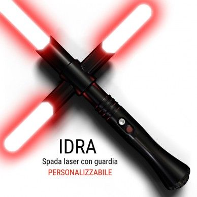 Laser sword with guard laser model is the HYDRA. Crossguard combat.