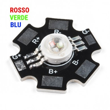 Led high power RGB 3-watt on the basis of star