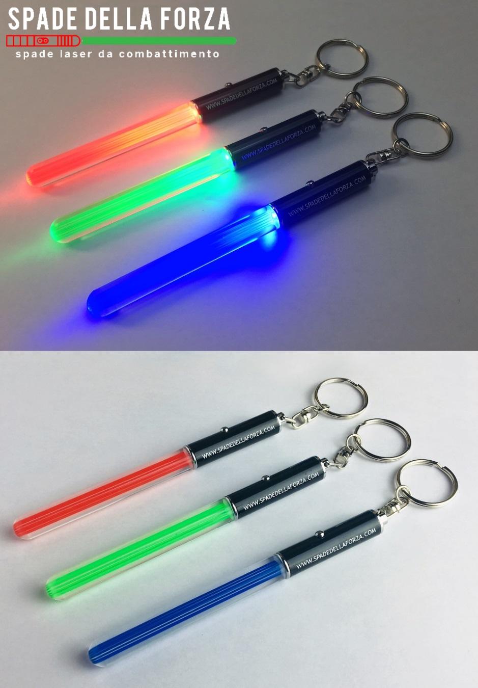 portachiavi spada laser luminoso con anello