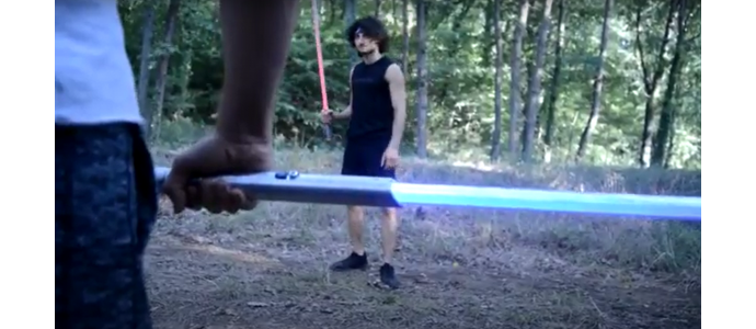 Nuovo video con le nostre spade laser da combattimento by TheHeroMovie lightsabers duel 2020